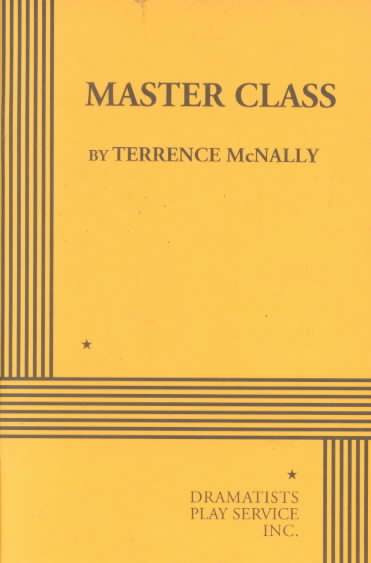 Master Class By McNally, Terrence